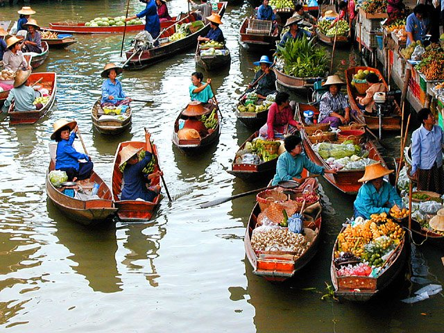 Bangkok. drijvende markt