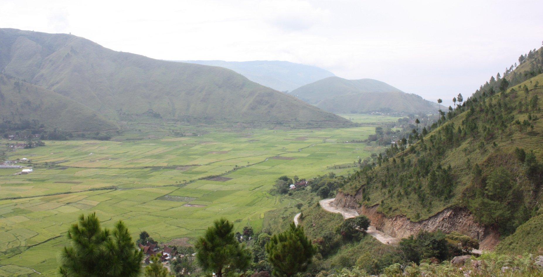 Panorama bij Danau Toba