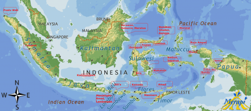 Map Indonesia diving
