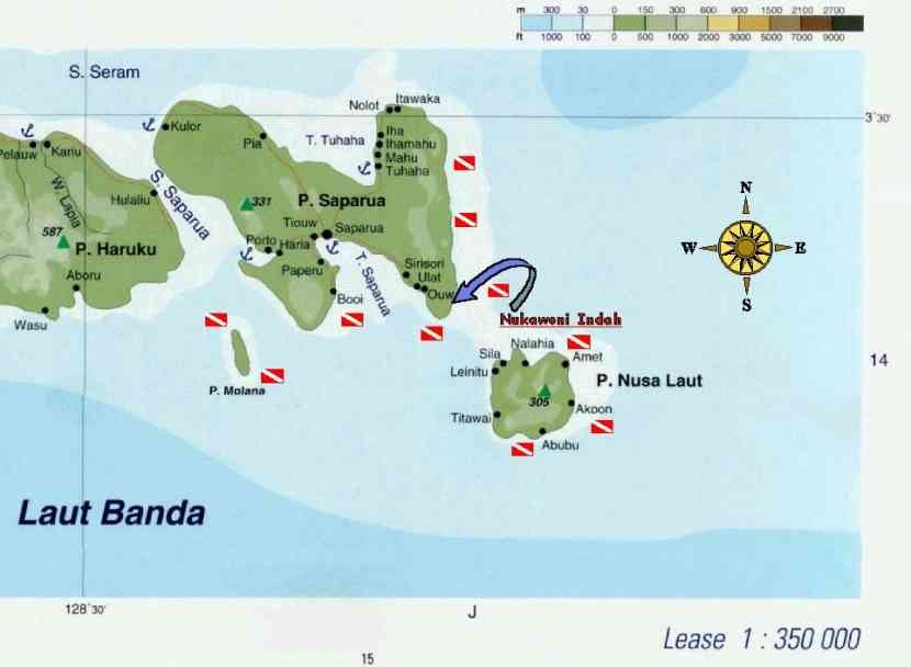 Lease islands dive map