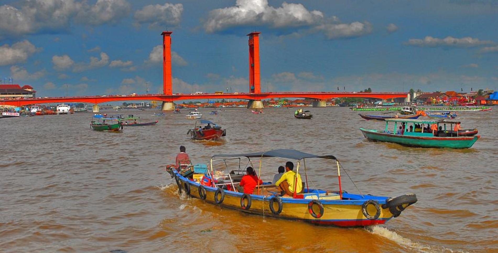 Palembang Musi rivier