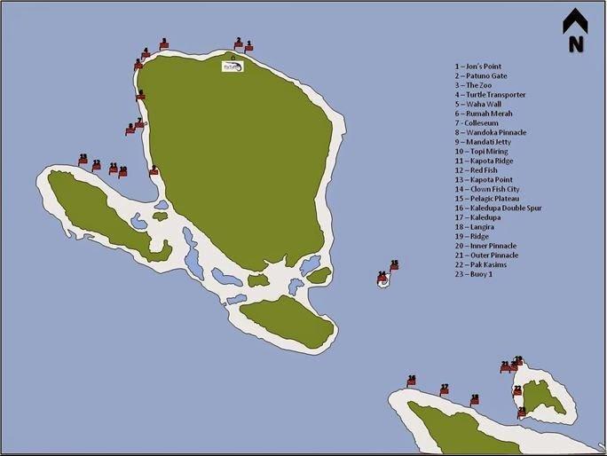 Wakatobi - Wangi Wangi dive sites